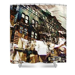The Silver Factory / 231 East 47th Street Shower Curtain by Elizabeth McTaggart