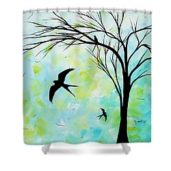 The Simple Life By Madart Shower Curtain by Megan Duncanson