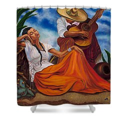 The Singers Shower Curtain by Maria Gibbs