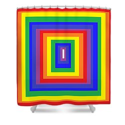 The Sixties Shower Curtain by Cletis Stump