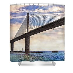 The Skyway Shower Curtain