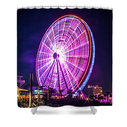 Shower Curtain featuring the photograph The Skywheel by Rob Sellers