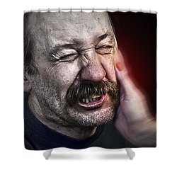 The Slap Shower Curtain by Rick Mosher