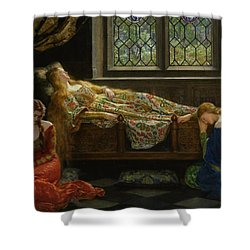 The Sleeping Beauty Shower Curtain by John Collier