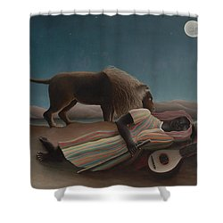 The Sleeping Gypsy Shower Curtain