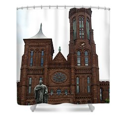 The Smithsonian - Washington Dc Shower Curtain by Christiane Schulze Art And Photography