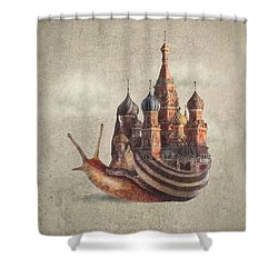 The Snail's Daydream Shower Curtain