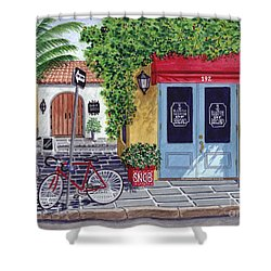 The Snob Restaurant Shower Curtain