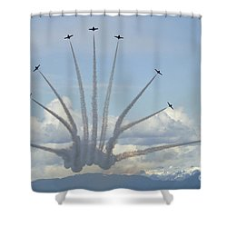 The Snowbirds In High Gear Shower Curtain by Bob Christopher