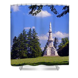 The Soldiers Monument Shower Curtain