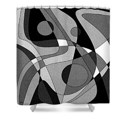 The Soloist - Black And White Shower Curtain