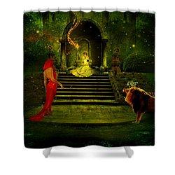 The Sorceress Shower Curtain by Amanda Struz