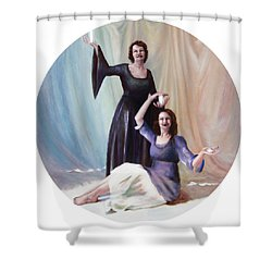 The Source Shower Curtain by Shelley Irish