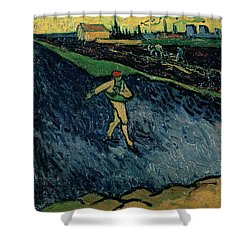 The Sower Shower Curtain by Vincent van Gogh