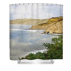 The Spanish North Coast Shower Curtain by Mary Machare