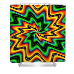 The Spark By Rafi Talby  Shower Curtain by Rafi Talby