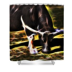 The Sparks Of Water Buffalo Shower Curtain by Miroslava Jurcik