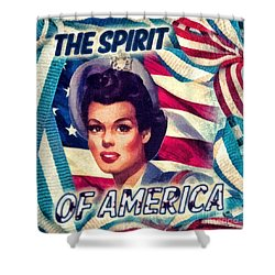 The Spirit Of America Shower Curtain by Mo T