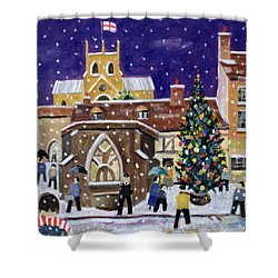 The Spirit Of Christmas Shower Curtain by William Cooper
