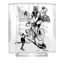 The Spirit Of Freedom Shower Curtain by Joseph Juvenal