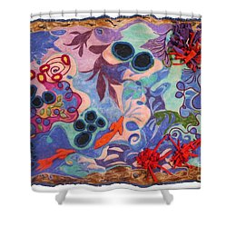 The Spiritual Component Shower Curtain by Heather Hennick