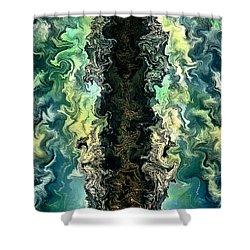 The Split By Rafi Talby Shower Curtain by Rafi Talby
