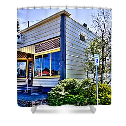 The Spot Shop Cleaners - Pullman Washington Shower Curtain by David Patterson