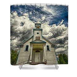 The Squaw Bay Church Shower Curtain by Jakub Sisak