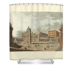 The St. Peter's Cathedral In Rome Shower Curtain by Splendid Art Prints