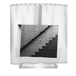 The Stairs In The Square Shower Curtain
