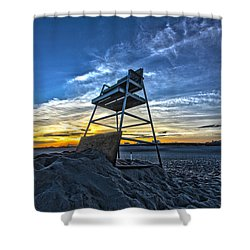 The Stand At Sunset Shower Curtain