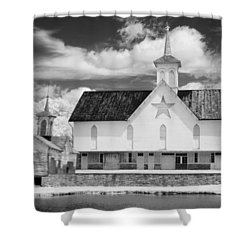 The Star Barn - Infrared Shower Curtain