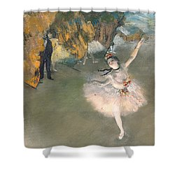 The Star Or Dancer On The Stage Shower Curtain by Edgar Degas