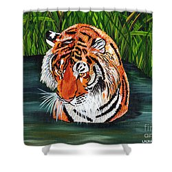 The Stare Shower Curtain by Laura Forde