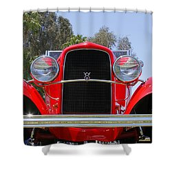 Shower Curtain featuring the photograph The Stare Of A V8 by Shoal Hollingsworth