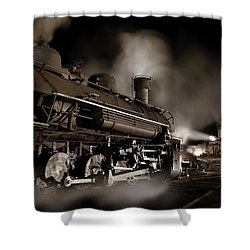 The Staredown Version 2 Shower Curtain by Ken Smith