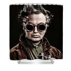 The Steampunk - Sci-fi Shower Curtain by Gary Heller