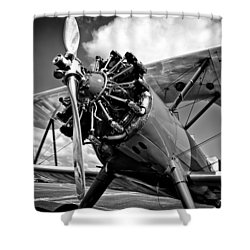 The Stearman Biplane Shower Curtain