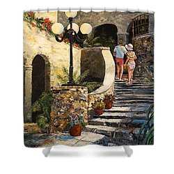 The Steps Shower Curtain