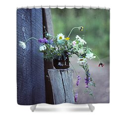 The Still Life Of Wild Flowers Shower Curtain by Patricia Keller