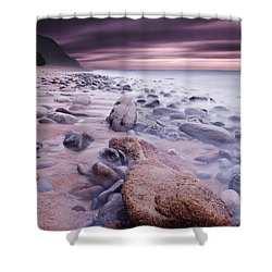 The Stone Land Shower Curtain