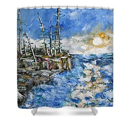 The Storm Shower Curtain by Beverly Livingstone