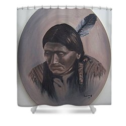 The Story Teller Shower Curtain by Michael  TMAD Finney