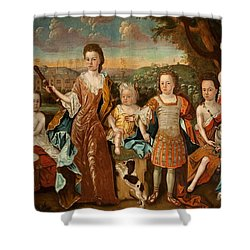 The Strachey Family, C.1710 Shower Curtain by English School