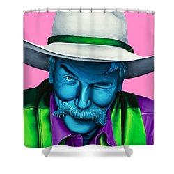 The Stranger- Color Edit- Shower Curtain by Ellen Patton