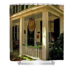 The Strawberry Inn Shower Curtain by Lois Bryan