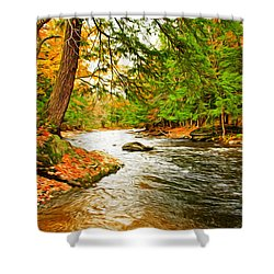 Shower Curtain featuring the photograph The Stream by Bill Howard