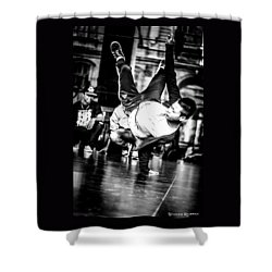 Shower Curtain featuring the photograph The Street Dancer by Stwayne Keubrick