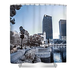 The Strip In Infrared Shower Curtain