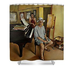 The Studio Shower Curtain by Jolante Hesse
